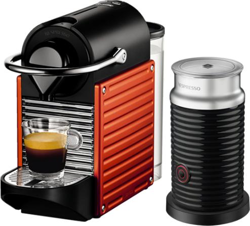 Nespresso - Nespresso Pixie Kırmızı Kapsüllü Kahve Makinesi & Aeroccino Bundle