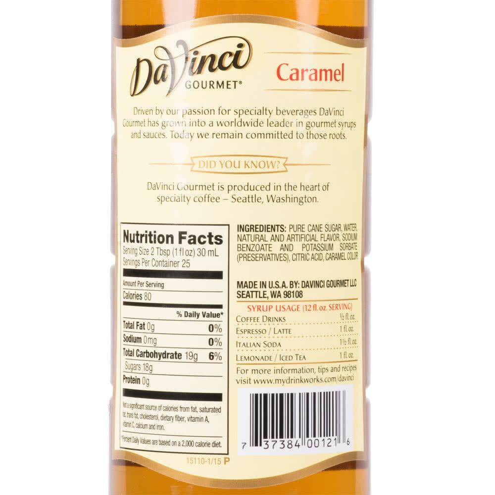 DaVinci Gourmet Karamel Şurup 0.75 L