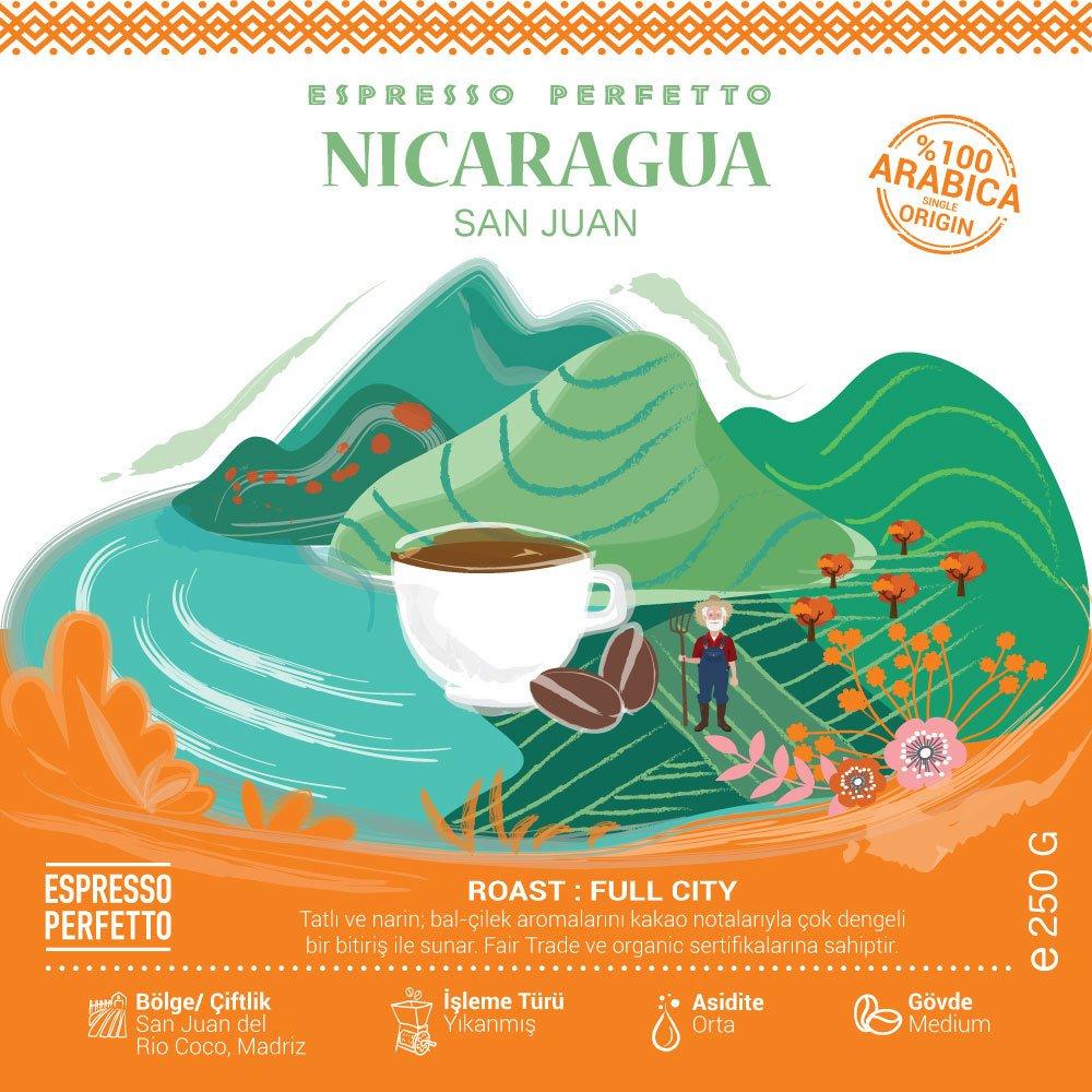 Espresso Perfetto Nicaragua San Juan Çekirdek Kahve 250 G