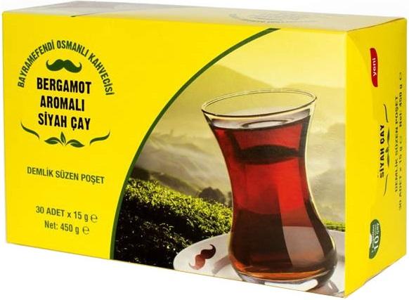 Bayramefendi Osmanlı Kahvecisi - Bayramefendi Osmanlı Kahvecisi Bergamot Aromalı Siyah Çay 30 Poşet