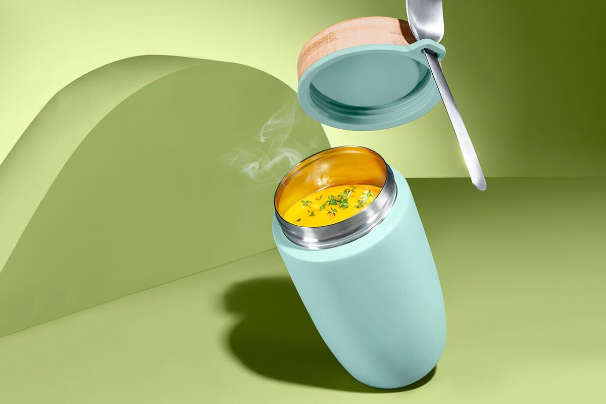 Taşınabilir Termos Kap ile Yemeğin, Kahven Her Yerde Yanında