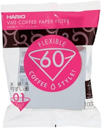 Hario - Hario V60 01 W Dripper Filtre Kağıdı 100 Adet