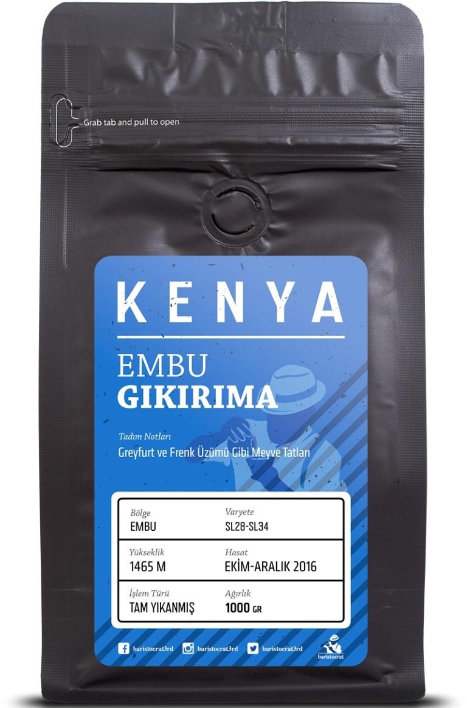 Baristocrat - Baristocrat Kenya Embu Gikirima Kahve 1000 G