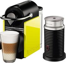 Nespresso - Nespresso Pixie Clips Sarı Kapsüllü Kahve Makinesi & Aeroccino Bundle