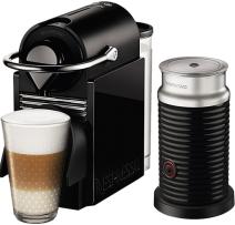 Nespresso - Nespresso Pixie Clips Siyah Kapsüllü Kahve Makinesi & Aeroccino Bundle
