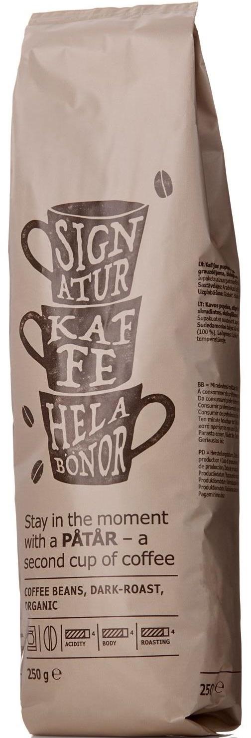 Ikea - Ikea Patar Organik Dark Roast Kahve Çekirdeği 250 G