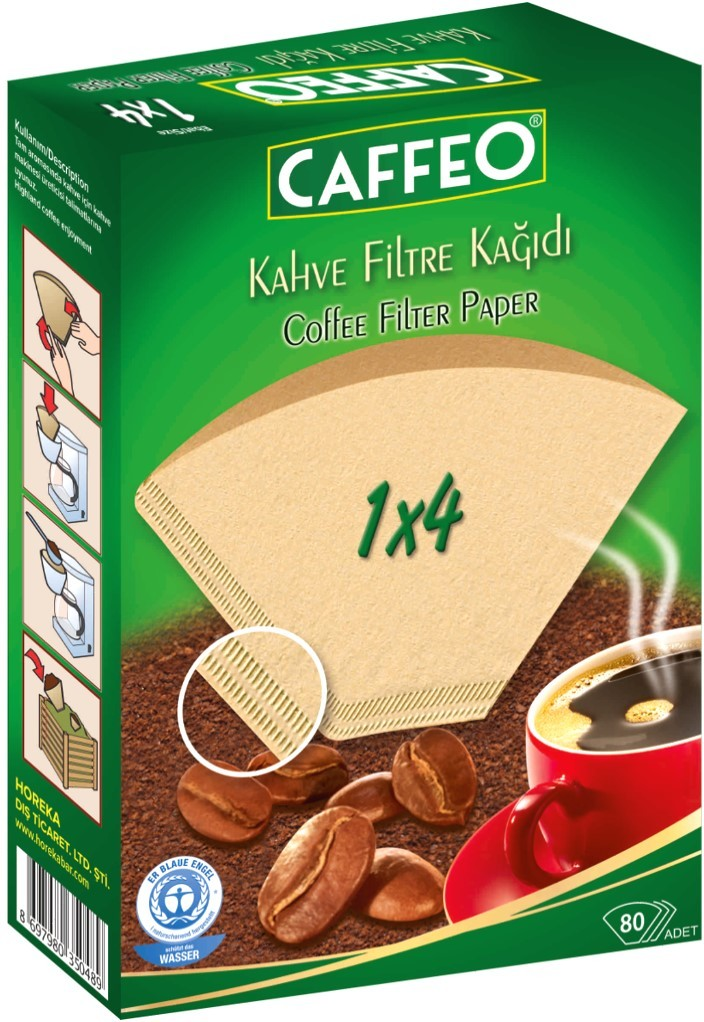 Caffeo - Caffeo 1x4 Kahve Filtre Kağıdı 80 Adet