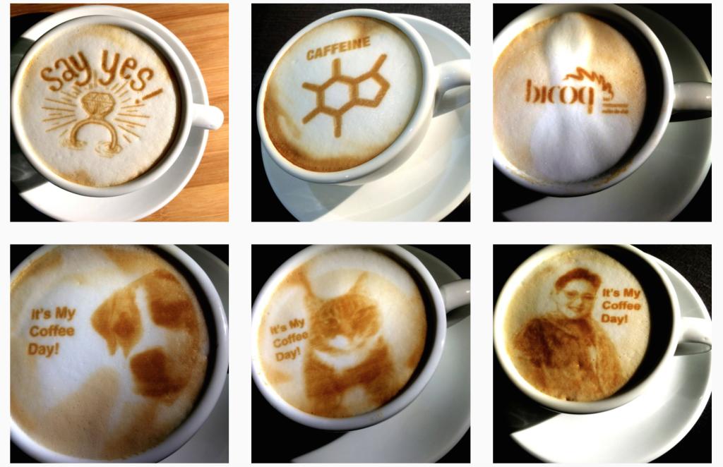 """Bu Makine Resimlerinizi Kahveye """"Basıyor"""""""