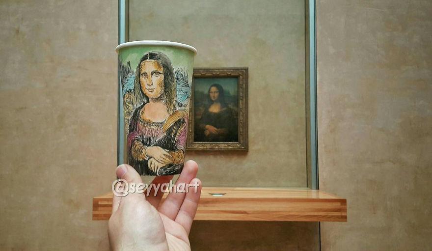 Bardağa Çizim Yaparak 17 Ülke Dolaşan Türk Sanatçı