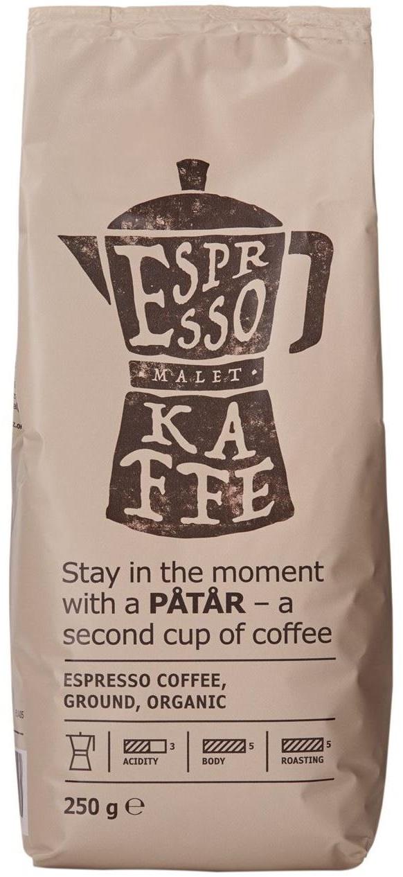 Ikea - Ikea Patar Espresso Organik Öğütülmüş Kahve 250 G
