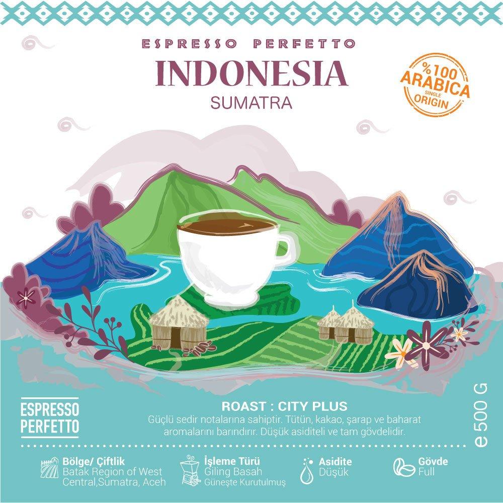Espresso Perfetto - Espresso Perfetto Indonesia Sumatra Çekirdek Kahve 500 G