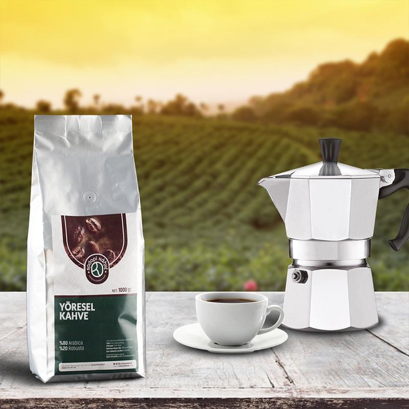 Rodopi Kahve - Rodopi Kahve Brezilya Rio Minas Kahve 1000 G