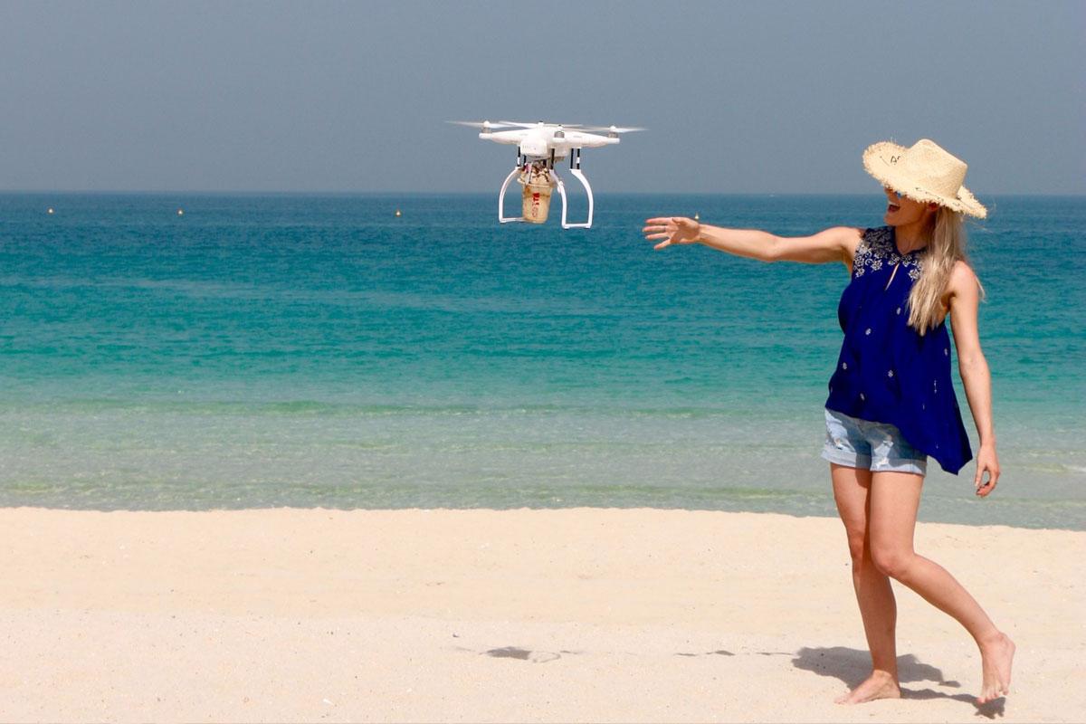 Drone ile Kahve Teslimatı Testleri Başarılı Oldu