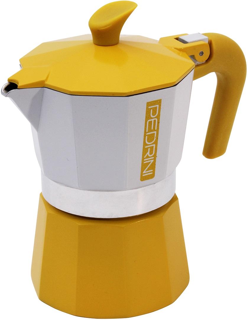 Pedrini - Pedrini Kaffet-Vintage 3 Cup Sarı Moka Pot