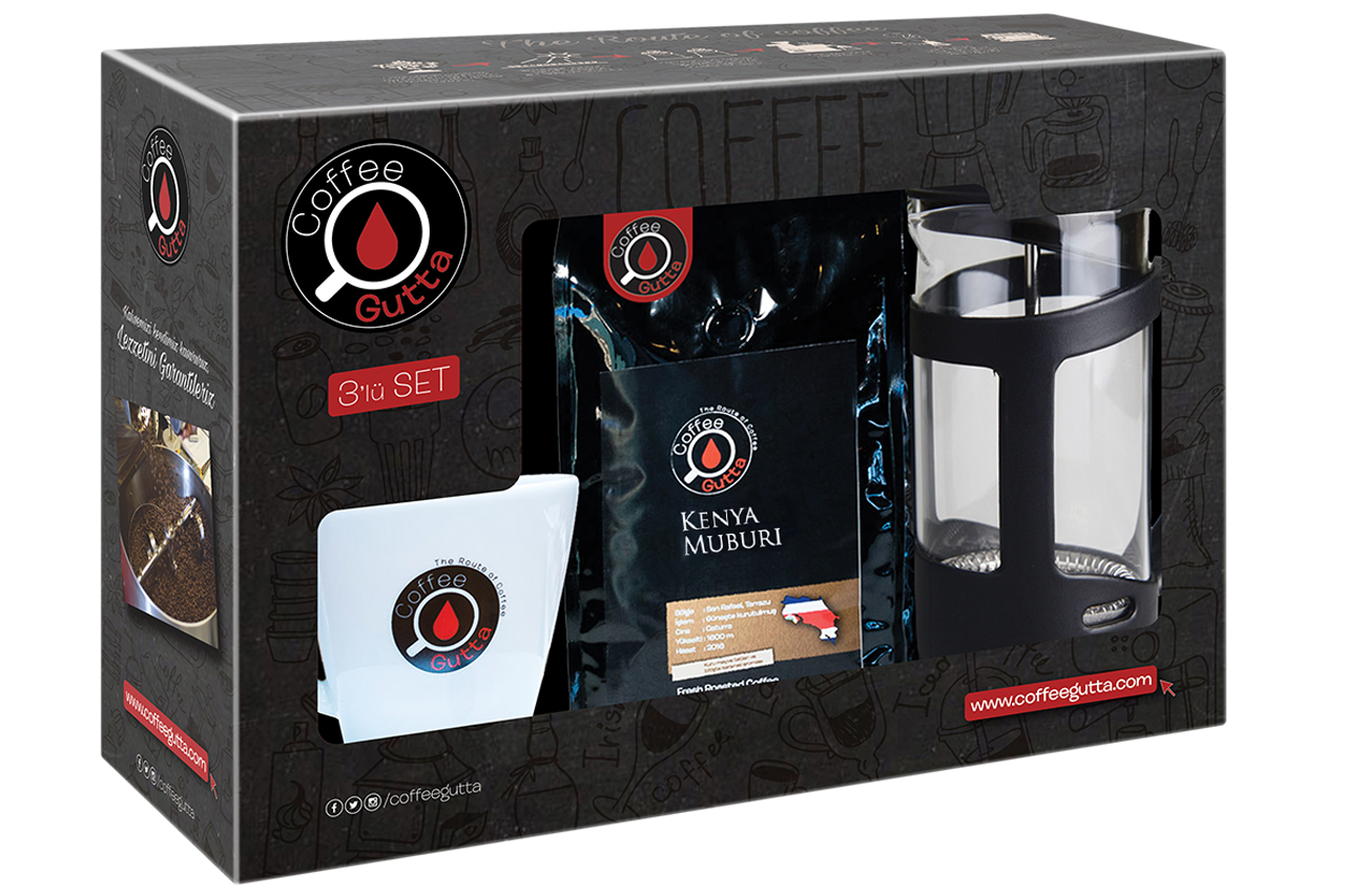 Coffee Gutta - Coffee Gutta Paket Kenya Muburi 100 G Kahve + Kupa + French Press