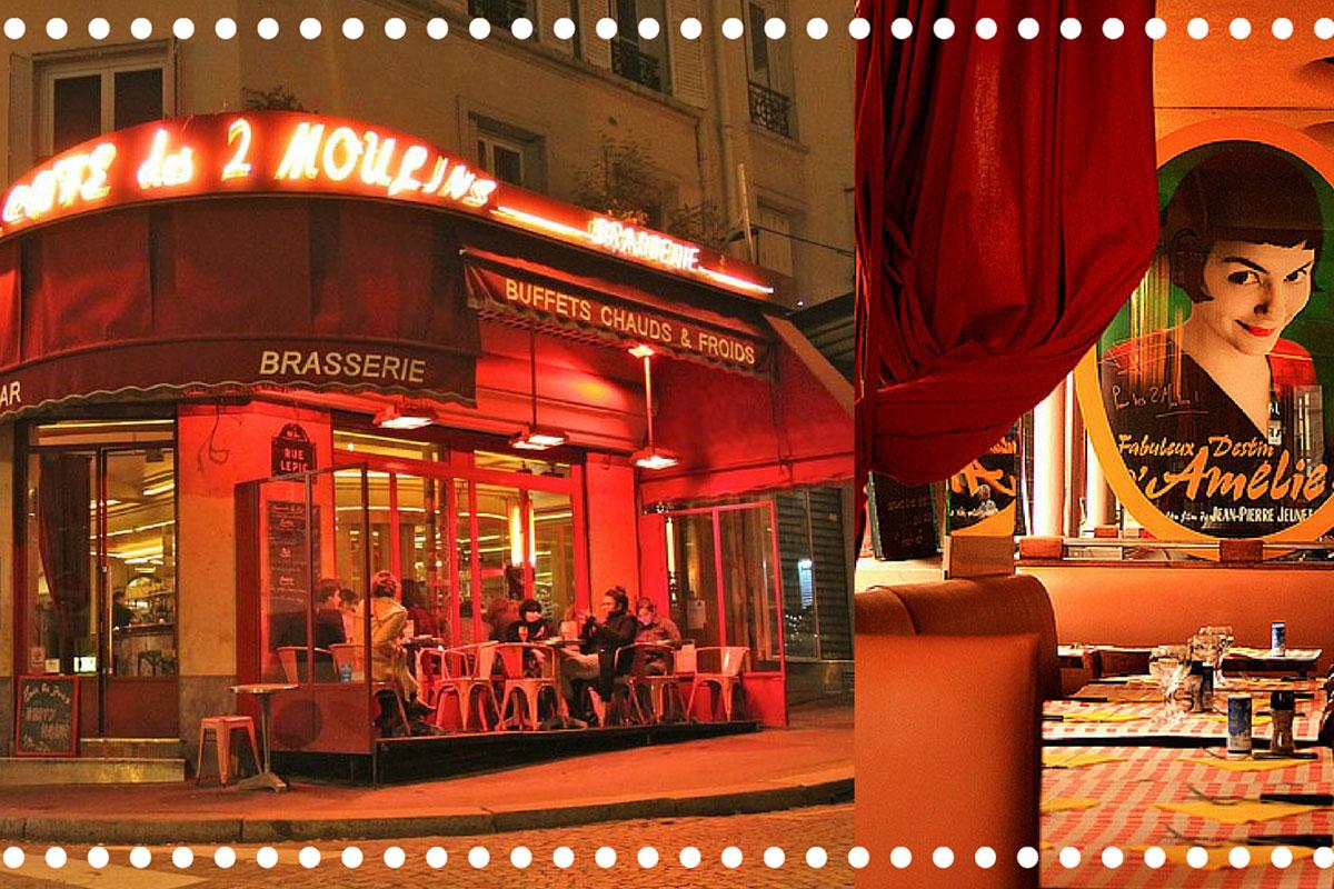 Amélie İle Bilinen Mekan; Café de Deux Moulins - Vlog