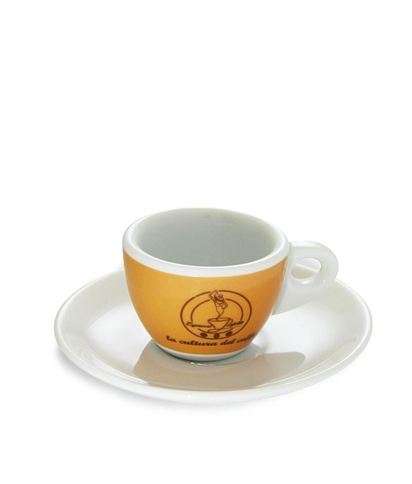 Espresso Perfetto - Espresso Perfetto Logolu Espresso Fincanı Turuncu
