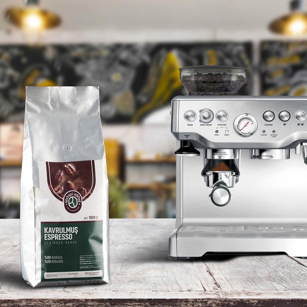 Rodopi Kahve - Rodopi Kahve Espresso Çekirdek Kahve 1000 G