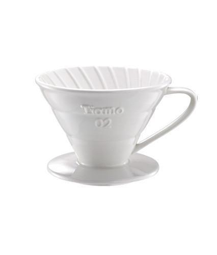 Tiamo - Tiamo Seramik V02 Dripper Beyaz