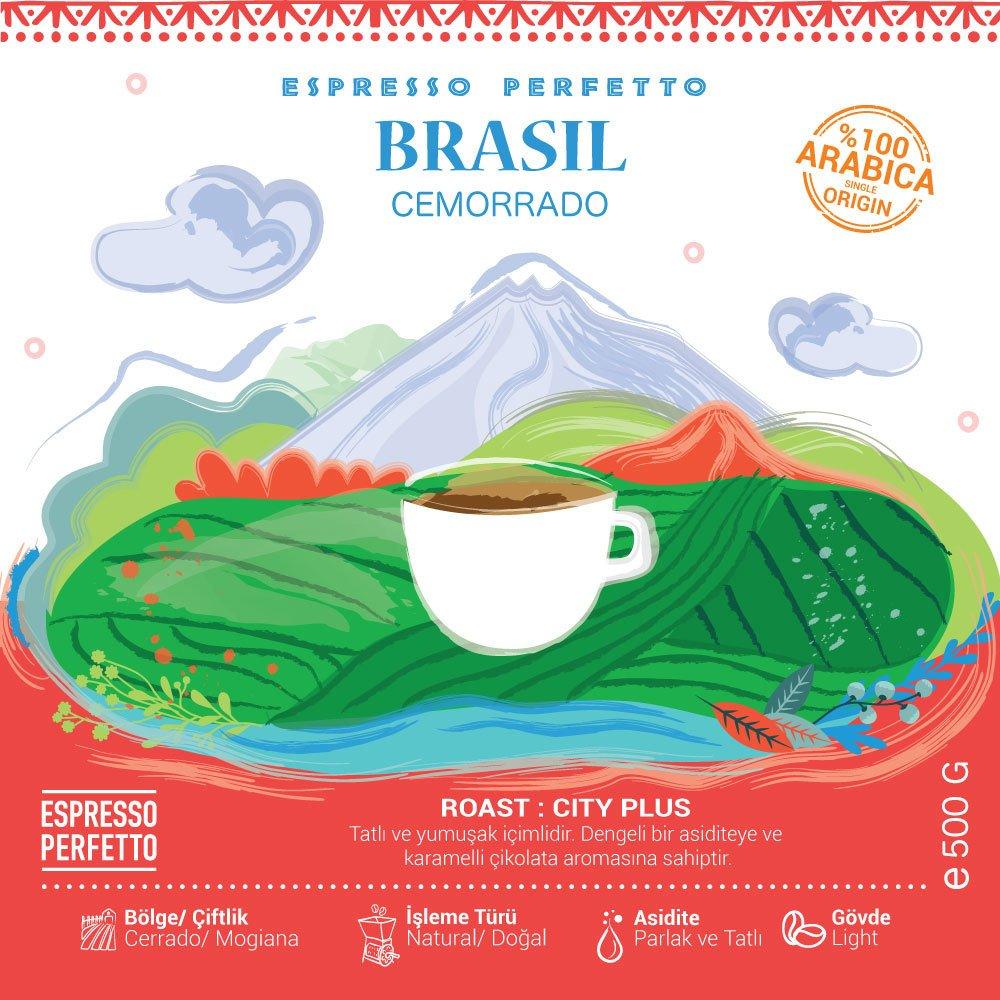 Espresso Perfetto - Espresso Perfetto Brasil Cemorrado Çekirdek Kahve 500 G