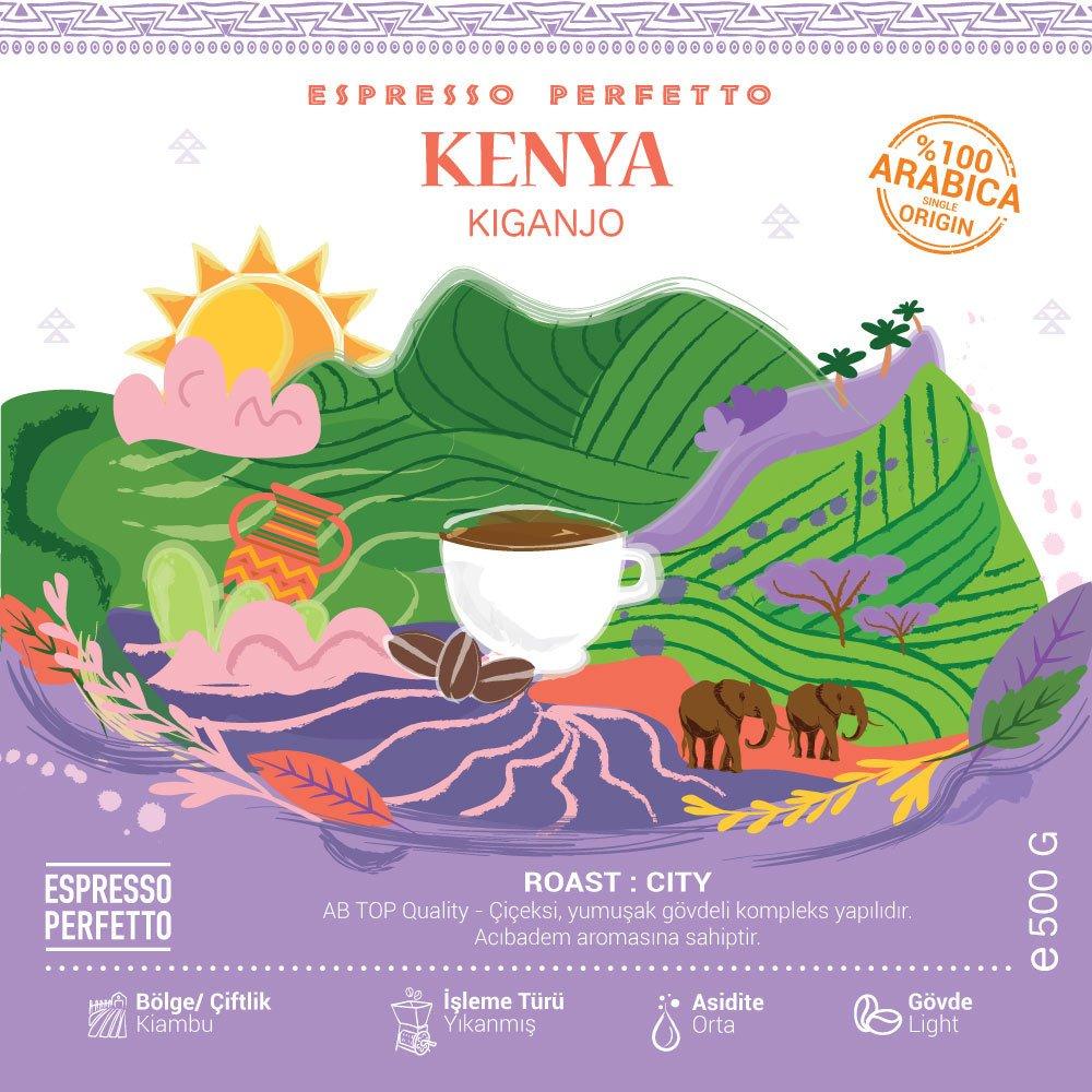 Espresso Perfetto - Espresso Perfetto Kenya Kiganjo Çekirdek Kahve 500 G