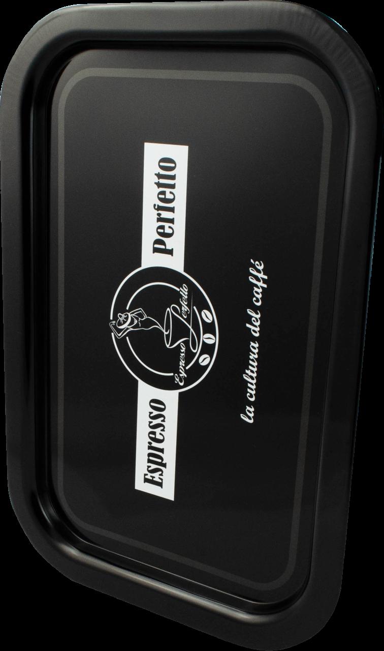 Espresso Perfetto - Espresso Perfetto Black Logo Tepsi