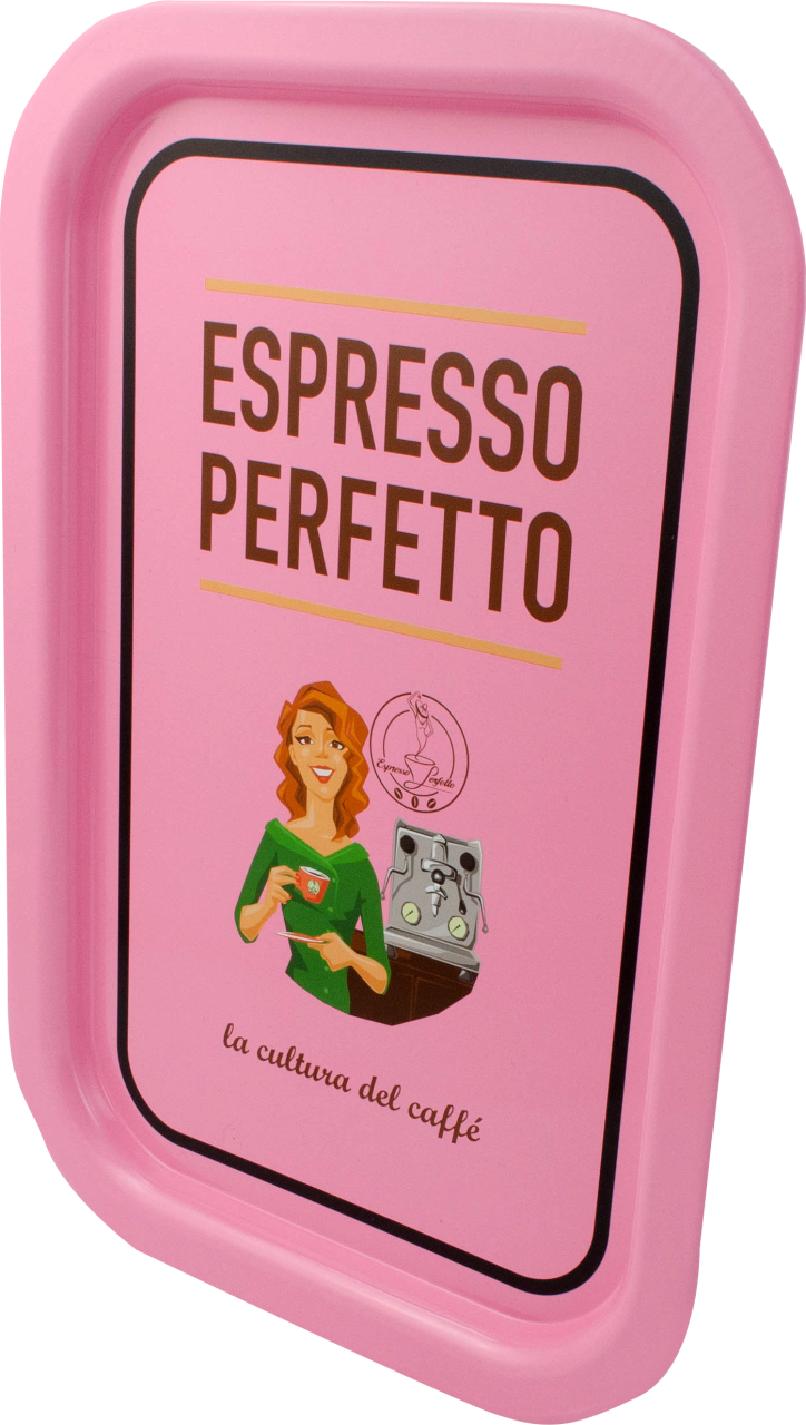 Espresso Perfetto - Espresso Perfetto Pink Coffee Lady Tepsi