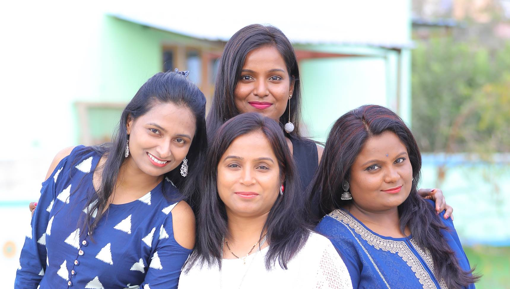 Bank of Ireland Risk Innovation Manager Champa Ramaiah and her sisters