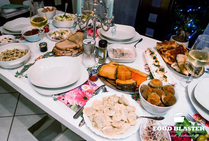 Essen zu Weihnachten in Polen