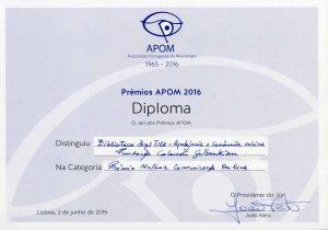 Prémios APOM 2016: Prémio Melhor Comunicação Online