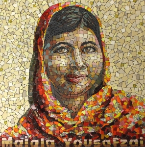 Malala Yousafzai by the London School of Mosaics