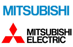 The Blue Japanese Mitsubishi Logo Top With Our More Familiar Above
