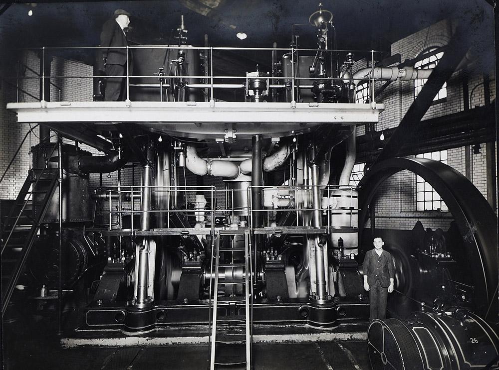 Original Linde steam-driven compressor