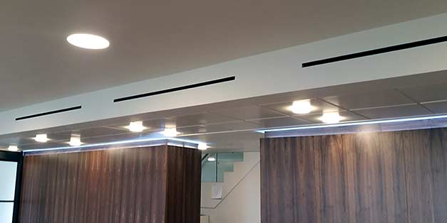 Linear slot diffuser wall installation instructions