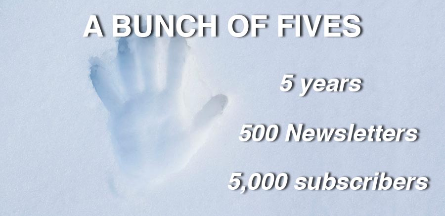 Newsletter achieves triple-five landmark
