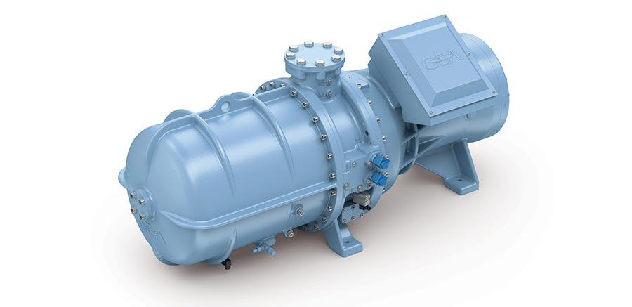 Semi-hermetic NH3 screw compressor
