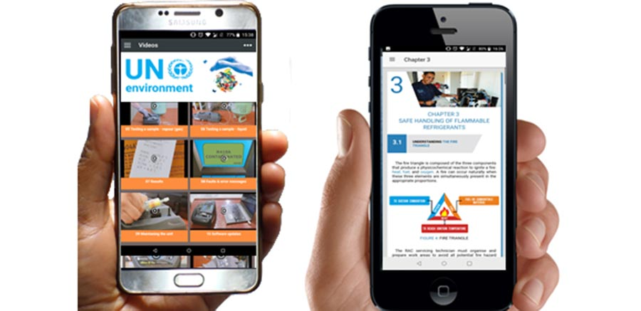 Smartphone refrigerant apps