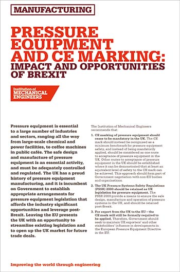 UK should ditch the CE mark on pressure equipment - Cooling Post