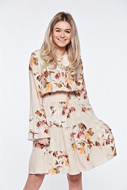Rochie tricotata cu maneci clopot Tynia