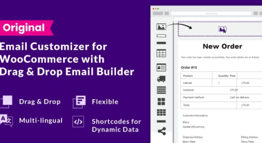 Woo Email Customizer  with Drag and Drop Email Builder