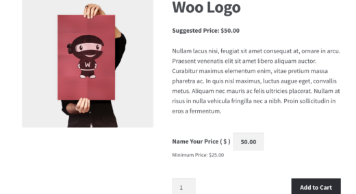 WooCommerce – Name Your Price