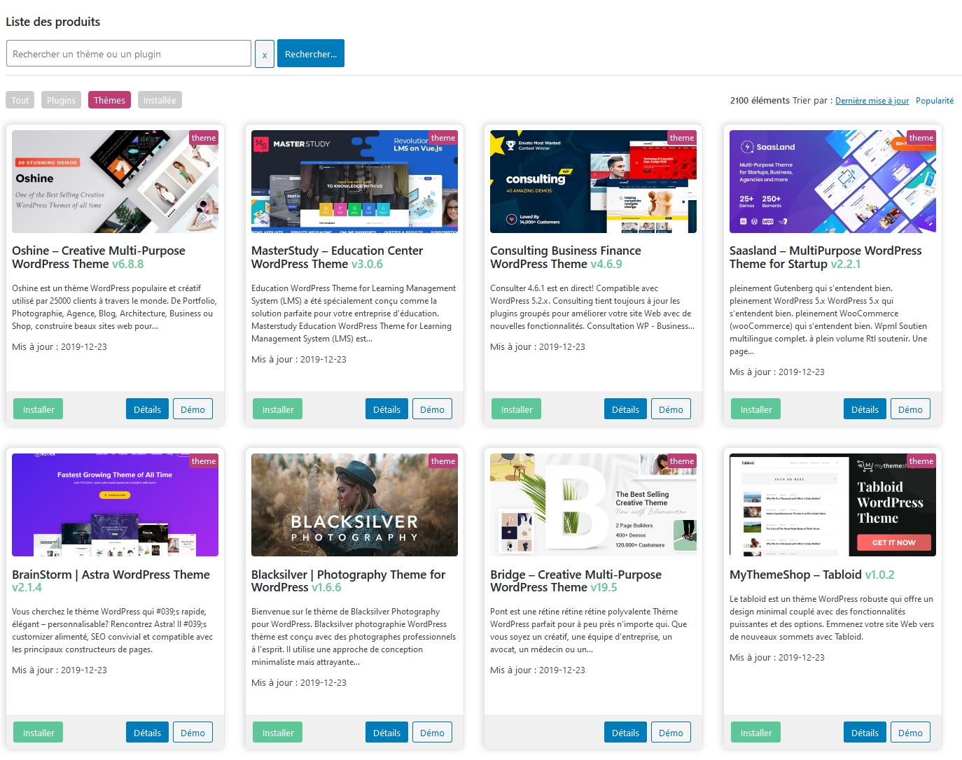 Télécharger des thèmes Premium WordPress