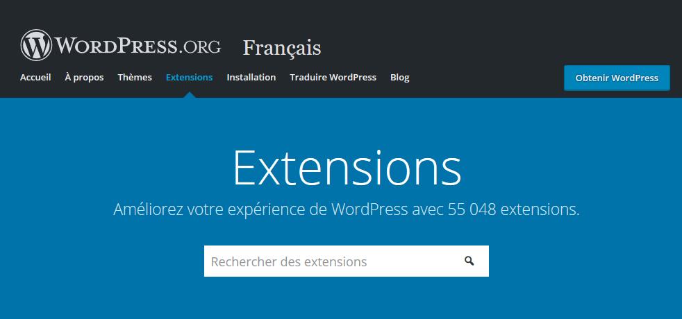 Répertoire officiel de plugins WordPress