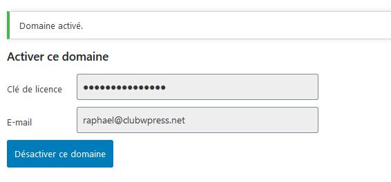 ClubWPress Updater Activation