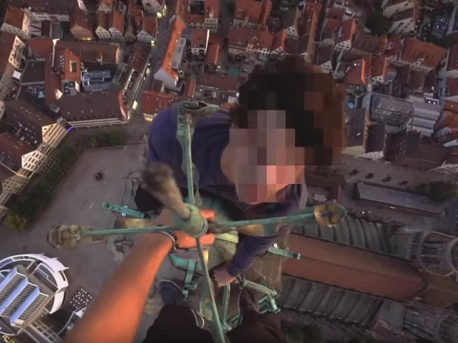 Rooftopper auf dem Ulmer Münster