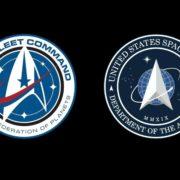 Foto: Logo Star Trek / Logo US Space Force