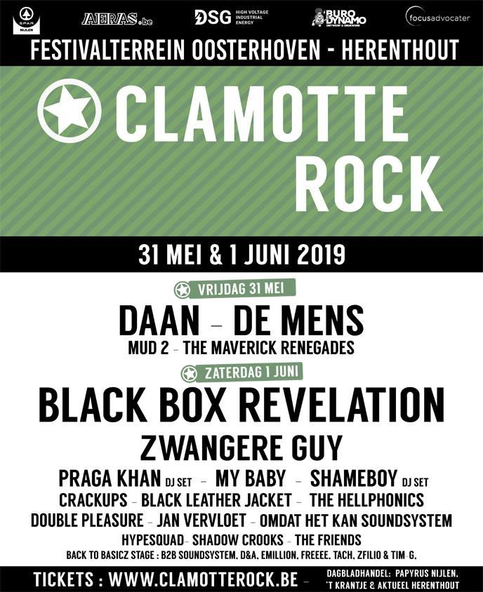 Win combitickets voor Clamotte Rock