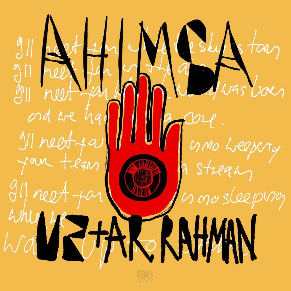 "Nieuwe single U2 – ""Ahimsa"" (feat. A.R. Rahman)"
