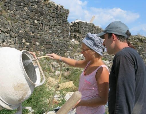 REMPART chantier du château de Calmont d'Olt