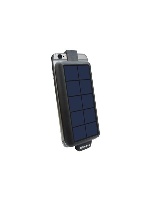 Solar PowerBack 3000mAh Powerbank - Sort - 3000 mAh